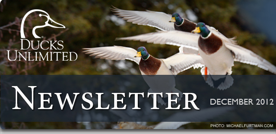 Ducks Unlimited Newsletter: December 2012