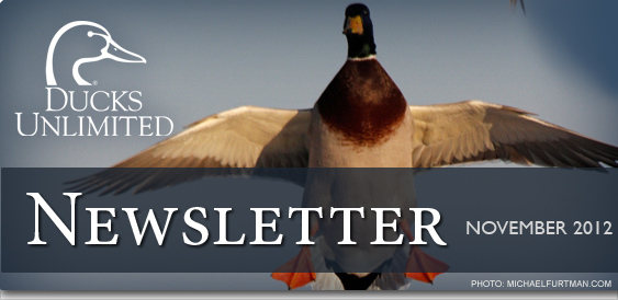 Ducks Unlimited Newsletter: November 2012