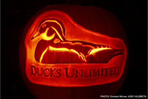 2nd Annual DU Logo Pumpkin Carving Contest Winning Photo