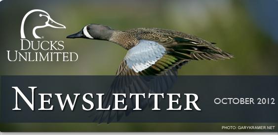 Ducks Unlimited Newsletter: October 2012