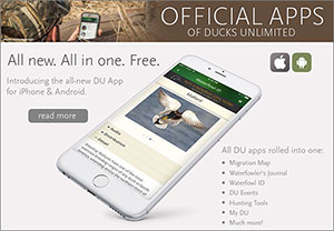 Official App of Ducks Unlimited for iPhone and Android
